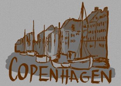 Copenhagen capital city vintage