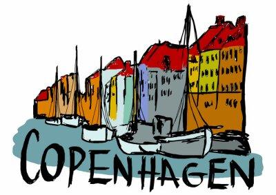 Copenhagen city capital in Denmark