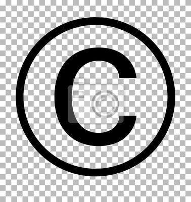 Poster Copyright symbol auf transparentem hintergrund. Urheberrechtszeichen Copyright-Symbol