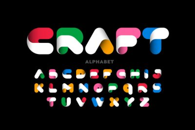 Poster Craft style colorful font design