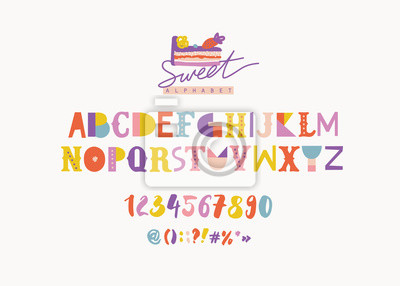 Creative colorful alphabet for kids.