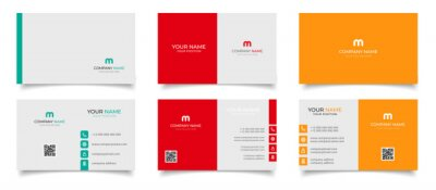 Poster creative modern name card and business card
