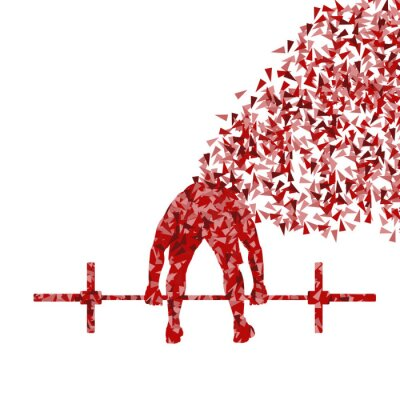 Poster Crossfit Mann Gewichtheben Vektor Hintergrund Konzept