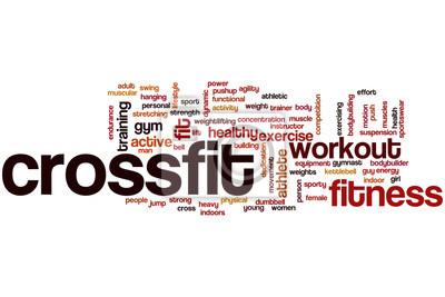 Poster Crossfit Wortwolke