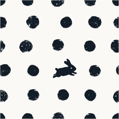 Cute pattern background with rabbit.