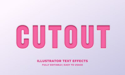 Poster Cutout Text Style Effect