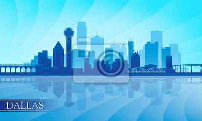 Dallas Skyline Silhouette Hintergrund