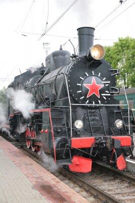 Poster Dampflokomotive, Vorderansicht