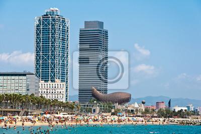 Das Barceloneta Strand.