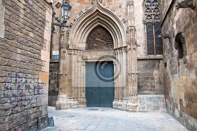 Das Gotische Viertel in Barcelona.Spain.