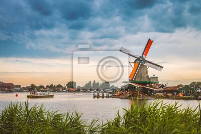 Poster De Zaanse Schans in Zaandam, nördlich von Amsterdam