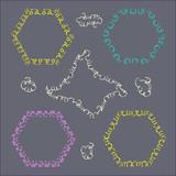 Dekorative satz von frames gemalt mit muster bürsten. arabischer  ligaturstil. 3f4eeba178
