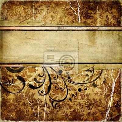 dekorative Vintage golde Papier mit Platz für Text