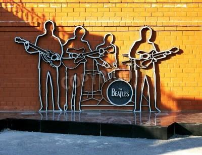 Poster Denkmal für die Beatles in Ekaterinburg, Russland