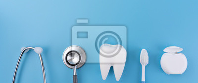 Poster Dental concept healthy equipment  tools dental care Professional  banner