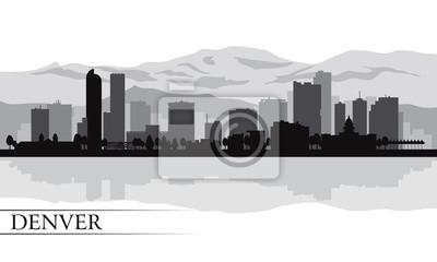 Denver Skyline Silhouette Hintergrund