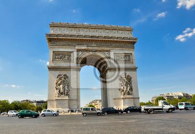Der Arc de Triomphe von der Place Charles de Gaulle