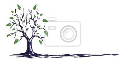 Poster Der Baum Skizze