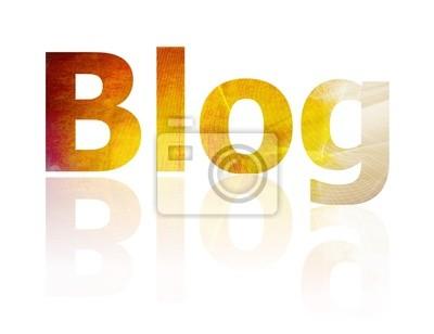 Der Blog Symbol, das Internet stellt