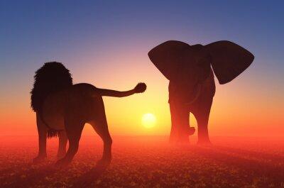 Der Löwe und der Elefant