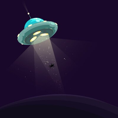 Poster Der Mann wurde von UFO entführt