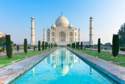 Poster Der Morgen Ansicht des Taj Mahal Denkmal