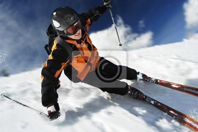 Poster der Skifahrer