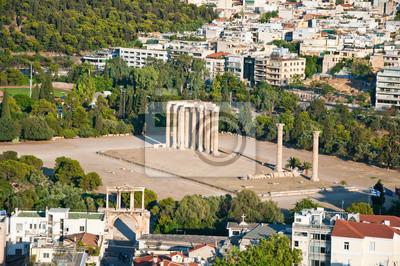Der Tempel des Olympischen Zeus in Athen, Griechenland.
