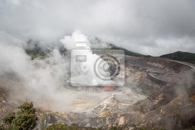 Der Vulkan Poás in der Nähe von San Jose, Costa Rica
