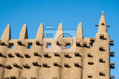 Detail der Großen Moschee von Djenné, Mali, Afrika.