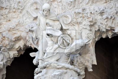 Detail der Sagrada Familia. Barselona. Spanien.