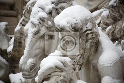 Detail der Trevi-Brunnen in Rom.