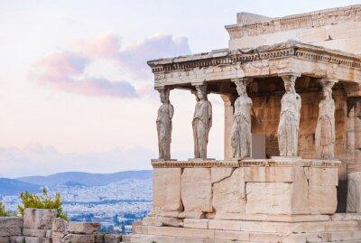 Poster Detail von Erechtheion in Akropolis von Athen, Griechenland