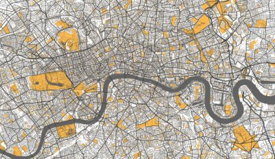 Poster Detailed Map of London, UK