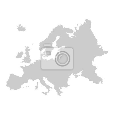 Poster Detailed vector map of Europe