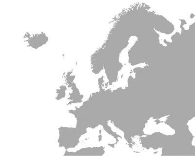 Poster Detaillierte Karte von Europa