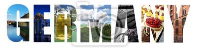 Deutschland-Collage auf Weiß