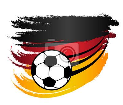 Deutschland Fahne Flagge Und Fliegender Fussball Em Wm Vektor