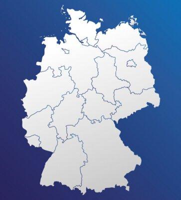 Deutschland Karte Bundesländer Schwarz Weiß.Poster Deutschland Karte Und Bundesländer Landkarte Europa