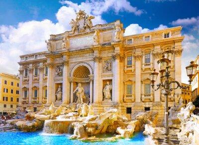 Poster Di Trevi-Brunnen in Rom. Italien.