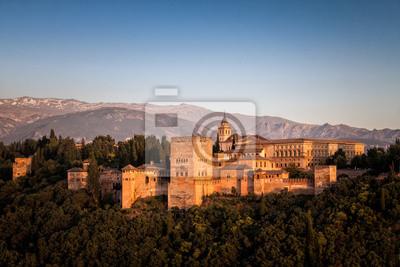 Poster Die Alhambra in Granada in Spanien