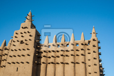 Die Große Moschee von Djenné, Mali, Afrika.