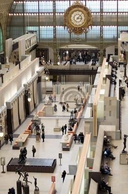 Die Haupthalle des Musée d'Orsay, Paris, Frankreich