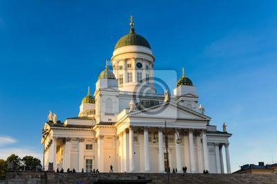 Die Helsinki-Lutherische Kathedrale im Abendlicht, Finnland