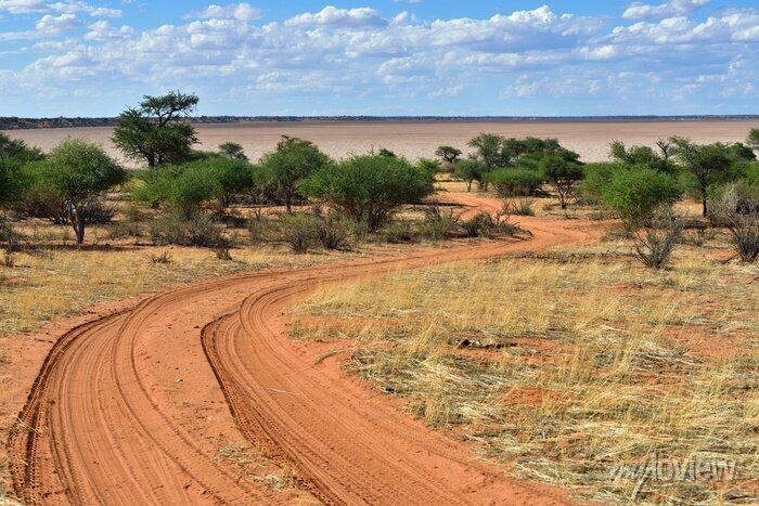 Poster Die Kalahari-Wüste, Namibia