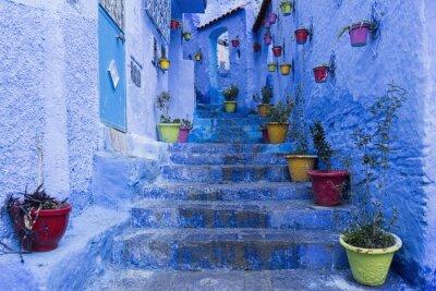 Poster Die Küche von Chefchaouen, Marruecos