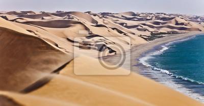 Poster Die Namib Wüste entlang der Atlantikküste von Namibia, südliches Afrika