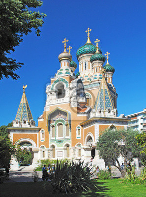 Die russisch-orthodoxe Kathedrale Saint-Nicolas in Nizza.