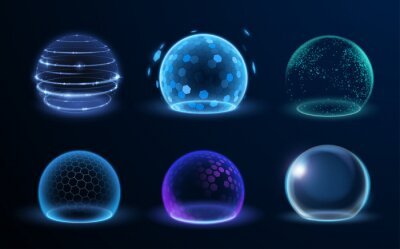 Poster Different energy protection spheres set