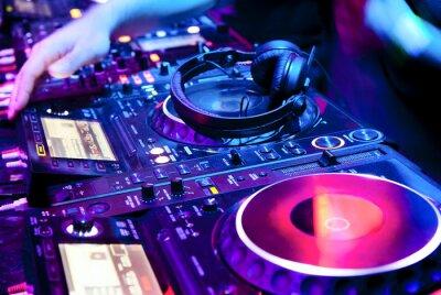 Poster DJ mischt die Spur